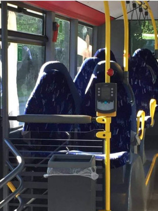 Commenters thought the bus seats were women wearing burqas.