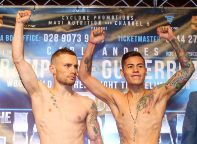 Carl Frampton and Andres Gutierrez will now not fight.