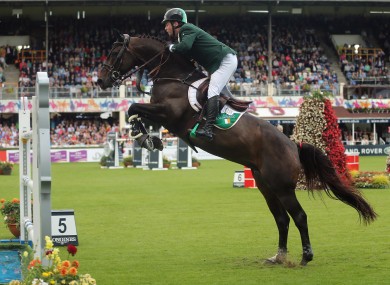 Cian O'Connor on Good Luck at the Dublin Horse Show this year.