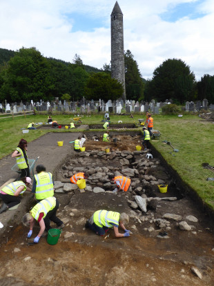 The dig site at Glendalough.