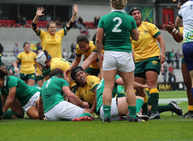 Hilisha Samoa scored Australia's third try.