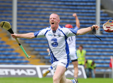 Mullane celebrates reaching the Munster final back in 2012.