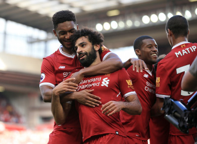 Mohamed Salah scored and assisted during the 4-0 win at Anfield.