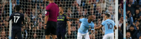 Two sent off as late Sterling goal rescues Man City