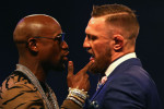 Countdown: Floyd Mayweather faces off with Conor McGregor.