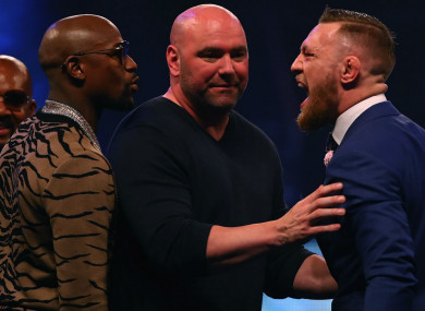Floyd Mayweather Jr and Conor McGregor