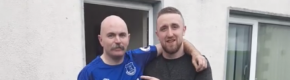 What happened after Athlone's two biggest Everton fans flew over to watch the match and meet the team is amazing