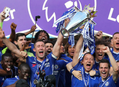 Three at the back helped Chelsea to a title last year.