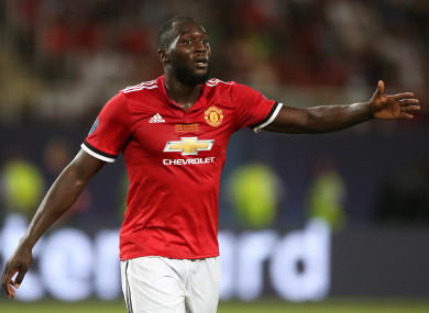 Romelu Lukaku has given Man United the lead against West Ham.