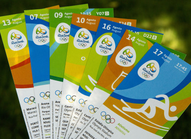 Rio 2016 Olympic Tickets.