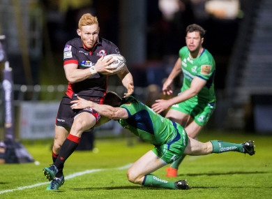 Rory Scholes on the attack for Edinburgh against Connacht last season.