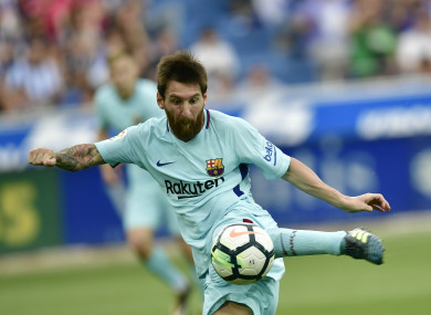 Messi fires home against Alaves.