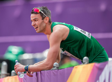 Thomas Barr has been forced to withdraw from the World Championships.