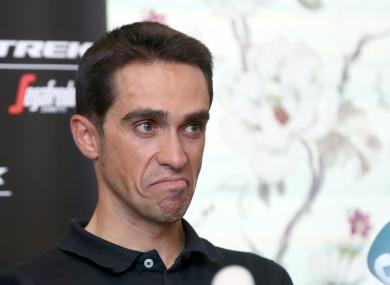 Alberto Contador (file pic).