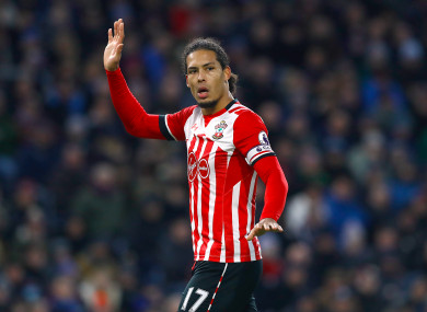 Virgil van Dijk is out of favour at Southampton.