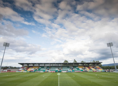A view of Tallaght Stadium ahed of the game.