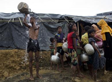 Newly arrived Rohingya in Bangladesh.