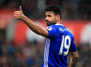 Diego Costa is set to leave Chelsea.