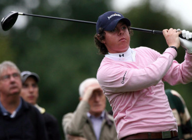 McIlroy during the British Masters at the Belfry in 2007.