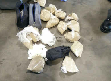 A file pic of a heroin and cocaine seizure.