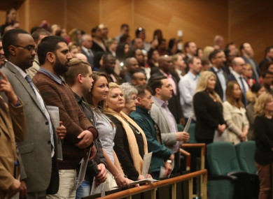 A citizenship ceremonies in Dublin's Convention Centre earlier this year.