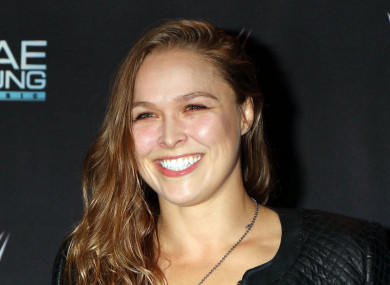 Rousey pictured last week at a WWE event in Las Vegas.