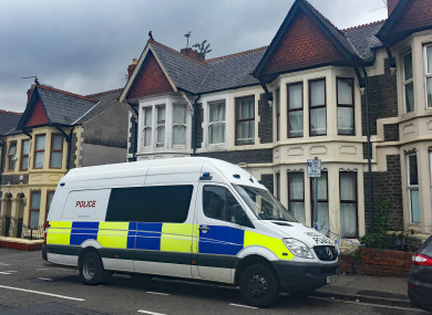 Police outside a property in Pen-y-Wain Road, Roath, Cardiff where a seventh person was arrested in connection with the Parsons Green bombing