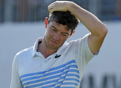 McIlroy: five birdies, but still finished on one-over.