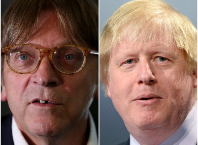 Guy Verhofstadt told the Dáil today that Johnson's recent comments were old-fashioned.
