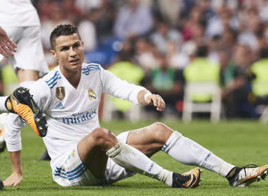 Cristiano Ronaldo pictured during the La Liga match between Real Madrid and Real Betis.