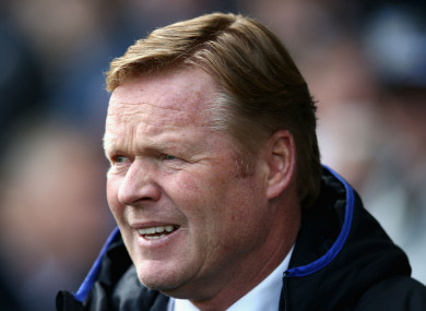 Everton boss Ronald Koeman.