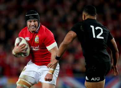 Sean O'Brien in action against the All Blacks.