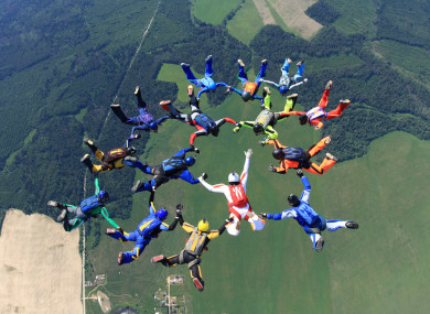 Sky-diving is becoming a popular method of fund-raising.