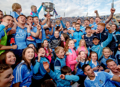 Dublin lifted Sam Maguire for a third successive year.