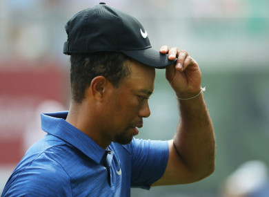 Former world number one Tiger Woods