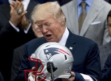 donald trump nfl football patriots