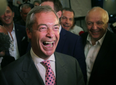 Nigel Farage stepped down as Ukip leader after the Brexit vote.