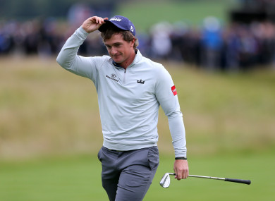 Paul Dunne on his way to winning the British Masters last week.