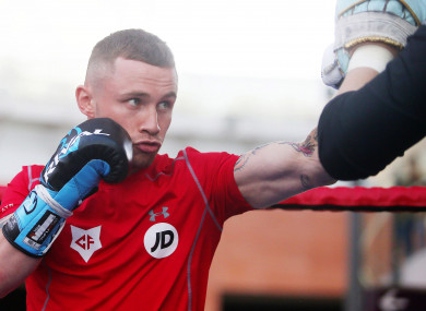 Frampton in training (file photo).