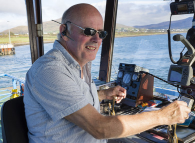 Captain Donal Walsh has been skipper of the ferry for 22 years.