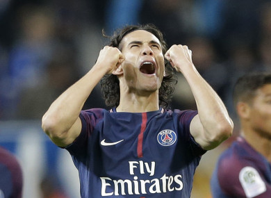 Cavani scored a dramatic late free-kick to earn a point.