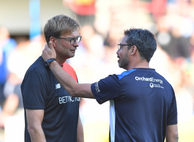 Jurgen Klopp and David Wagner.