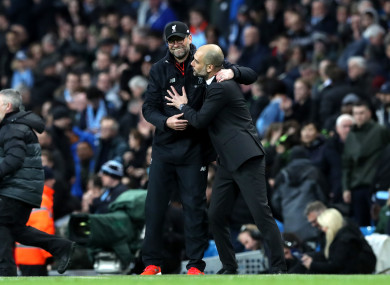 Manchester City manager Pep Guardiola has played down Jurgen Klopp's claims about his side.