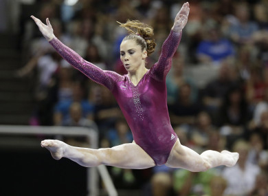 McKayla Maroney pictured competing in 2012.