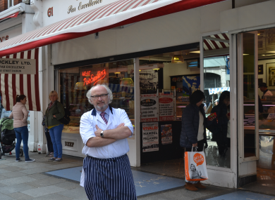 Paddy Buckley has worked at the Moore Street business for nearly 50 years.
