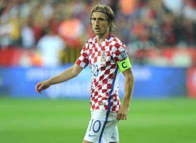 Luka Modric has 101 caps for Croatia.