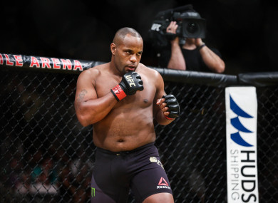 UFC light-heavyweight champion Daniel Cormier.