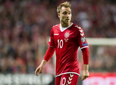 Christian Eriksen is Denmark's star player.