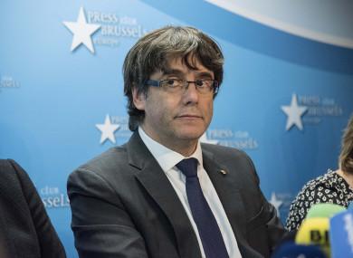 Former Catalan leader Carles Puigdemont.