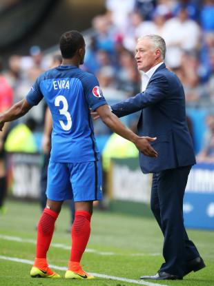 Evra and Deschamps at Euro 2016.